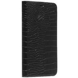 """Чехол-книжка кожаный Peacocktion Crocodile Genuine Leather для iPhone 11 (6.1"""") 2019 г. (SH2IPXIRBLK) Черный"""