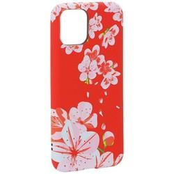 """Чехол-накладка силикон Luxo для iPhone 11 Pro (5.8"""") 0.8мм с флуоресцентным рисунком Цветы Розовый"""