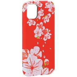 """Чехол-накладка силикон Luxo для iPhone 11 (6.1"""") 0.8мм с флуоресцентным рисунком Цветы Розовый"""