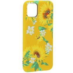"""Чехол-накладка силикон Luxo для iPhone 11 Pro Max (6.5"""") 0.8мм с флуоресцентным рисунком Цветы Желтый"""