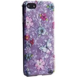 """Чехол-накладка пластиковый Fashion Case для iPhone SE (2020г.)/ 8/ 7 (4.7"""") с силиконовыми бортами Розовый вид №5"""