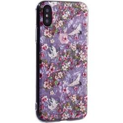 """Чехол-накладка пластиковый Fashion Case для iPhone XS/ X (5.8"""") с силиконовыми бортами Розовый вид №1"""