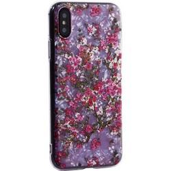 """Чехол-накладка пластиковый Fashion Case для iPhone XS/ X (5.8"""") с силиконовыми бортами Розовый вид №2"""