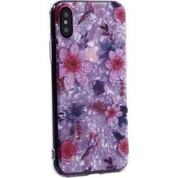 """Чехол-накладка пластиковый Fashion Case для iPhone XS/ X (5.8"""") с силиконовыми бортами Розовый вид №4"""