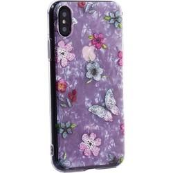 """Чехол-накладка пластиковый Fashion Case для iPhone XS/ X (5.8"""") с силиконовыми бортами Розовый вид №5"""