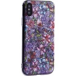 """Чехол-накладка пластиковый Fashion Case для iPhone XS/ X (5.8"""") с силиконовыми бортами Розовый вид №6"""