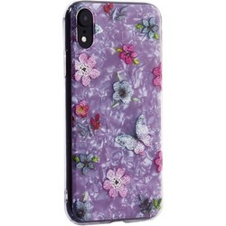 """Чехол-накладка пластиковый Fashion Case для iPhone XR (6.1"""") с силиконовыми бортами Розовый вид №5"""