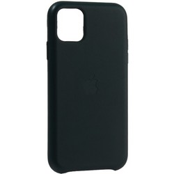 """Чехол-накладка кожаная Leather Case для iPhone 11 (6.1"""") Forest Green Темно-зеленый"""