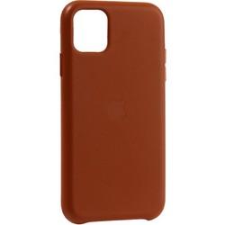 "Чехол-накладка кожаная Leather Case для iPhone 11 (6.1"") Saddle Brown Светло-коричневый"