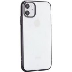 """Чехол-накладка пластиковый X-Level для iPhone 11 (6.1"""") Черный глянцевый борт"""