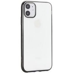 """Чехол-накладка силиконовый X-Level для iPhone 11 (6.1"""") Черный глянцевый борт"""