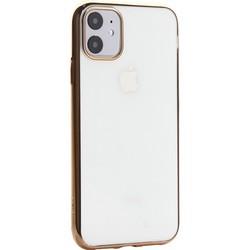 """Чехол-накладка силиконовый X-Level для iPhone 11 (6.1"""") Золотой глянцевый борт"""
