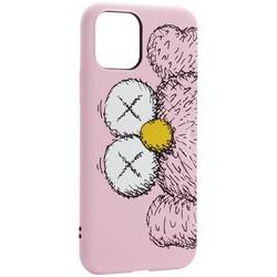 "Чехол-накладка силикон Luxo для iPhone 11 Pro (5.8"") 0.8мм с флуоресцентным рисунком KAWS Розовый KS-27"