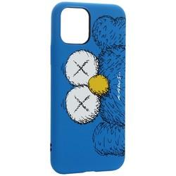 "Чехол-накладка силикон Luxo для iPhone 11 Pro (5.8"") 0.8мм с флуоресцентным рисунком KAWS Синий"