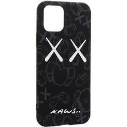 """Чехол-накладка силикон Luxo для iPhone 11 Pro (5.8"""") 0.8мм с флуоресцентным рисунком KAWS Черный №1"""