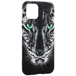 """Чехол-накладка силикон Luxo для iPhone 11 Pro (5.8"""") 0.8мм с флуоресцентным рисунком Тигр Черный"""