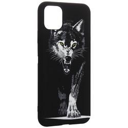 """Чехол-накладка силикон Luxo для iPhone 11 Pro Max (6.5"""") 0.8мм с флуоресцентным рисунком Волк Черный"""