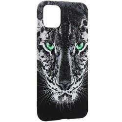 """Чехол-накладка силикон Luxo для iPhone 11 Pro Max (6.5"""") 0.8мм с флуоресцентным рисунком Тигр Черный"""