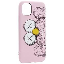 """Чехол-накладка силикон Luxo для iPhone 11 (6.1"""") 0.8мм с флуоресцентным рисунком KAWS Розовый"""