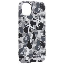 "Чехол-накладка силикон Luxo для iPhone 11 (6.1"") 0.8мм с флуоресцентным рисунком KAWS Серый"