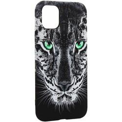 """Чехол-накладка силикон Luxo для iPhone 11 (6.1"""") 0.8мм с флуоресцентным рисунком Тигр Черный"""