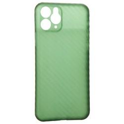 """Чехол-накладка карбоновая K-Doo Air Carbon 0.45мм для Iphone 11 (6.1"""") Зеленая"""