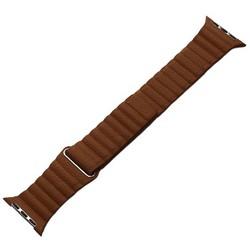 Ремешок кожаный COTEetCI W7 Leather Magnet Band (WH5206-SN) для Apple Watch 44мм/ 42мм Светло-коричневый