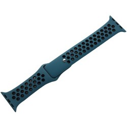 Ремешок спортивный COTEetCI W12 Sport Band (WH5216-BL-BK-38) для Apple Watch 40мм/ 38мм Черно-Голубой