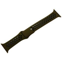 Ремешок спортивный COTEetCI W12 Sport Band (WH5216-GR-BK-38) для Apple Watch 40мм/ 38мм Черно-Зеленый