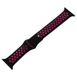 Ремешок спортивный COTEetCI W12 Sport Band (WH5216-BK-PK-38) для Apple Watch 40мм/ 38мм Черно-Розовый