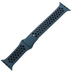 Ремешок спортивный COTEetCI W12 Sport Band (WH5217-BL-BK-42) для Apple Watch 44мм/ 42мм Черно-Голубой
