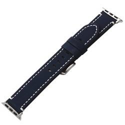 Ремешок кожаный COTEetCI W35 Homag Leather Band (WH5259-BL) для Apple Watch 44мм/ 42мм Синий