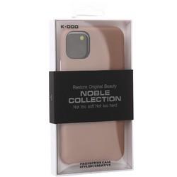 """Чехол-накладка кожаная K-Doo Noble Collection (PC+PU) для Iphone 11 (6.1"""") Розовый песок"""