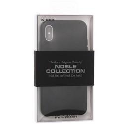"Чехол-накладка кожаная K-Doo Noble Collection (PC+PU) для Iphone XR (6.1"") Черная"