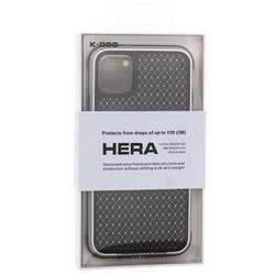 """Чехол-накладка противоударная K-Doo Hera (Metal+TPU+PC) для Iphone 11 (6.1"""") Серебристо-черный"""