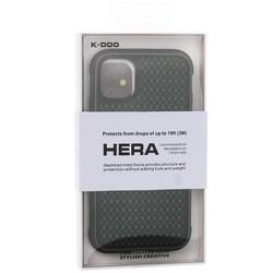 "Чехол-накладка противоударная K-Doo Hera (Metal+TPU+PC) для Iphone 11 (6.1"") Зелено-черный"