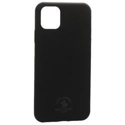 "Накладка кожаная Santa Barbara Polo&Racquet Club Knight Series для iPhone 11 (6.1"") Черная"