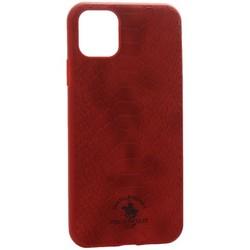 "Накладка кожаная Santa Barbara Polo&Racquet Club Knight Series для iPhone 11 (6.1"") Красная"