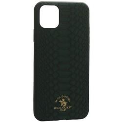 "Накладка кожаная Santa Barbara Polo&Racquet Club Knight Series для iPhone 11 (6.1"") Зеленая"