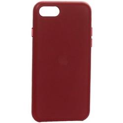 Чехол-накладка кожаная Leather Case для iPhone SE (2020г.) Red Красный