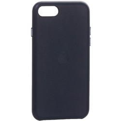 Чехол-накладка кожаная Leather Case для iPhone SE (2020г.) Midnight Blue Темно-синий