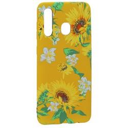 Чехол-накладка силикон Luxo для Samsung A20/ A30/ M10S 0.8мм с флуоресцентным рисунком Цветы Желтый