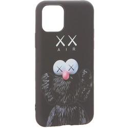 """Чехол-накладка силикон Luxo для iPhone 11 Pro (5.8"""") 0.8мм с флуоресцентным рисунком KAWS Черный KS-13"""