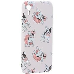 """Чехол-накладка силикон Luxo для iPhone XR (6.1"""") 0.8мм с флуоресцентным рисунком Бульдог Нежно-розовый"""