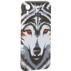"""Чехол-накладка силикон Luxo для iPhone XR (6.1"""") 0.8мм с флуоресцентным рисунком Волк Черно-белый"""