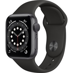 Apple Watch Series 6 GPS 40mm Space Gray Aluminum Case with Black Sport Band (серый космос/черный) (MG133)