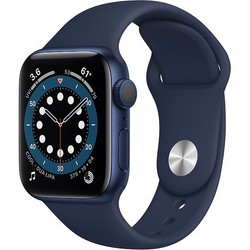 Apple Watch Series 6 GPS 40mm Blue Aluminum Case with Deep Navy Sport Band (синий/темный ультрамарин) (MG143)