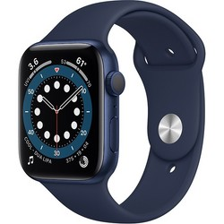Apple Watch Series 6 GPS 44mm Blue Aluminum Case with Deep Navy Sport Band (синий/темный ультрамарин) (M00J3)