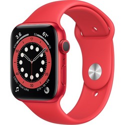 Apple Watch Series 6 GPS 44mm (PRODUCT)RED Aluminum Case with PRODUCT(RED) Sport Band (M00M3RU/A)