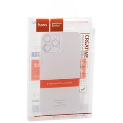 """Чехол силиконовый Hoco Light Series для iPhone 12/ 12 Pro (6.1"""") Прозрачный"""